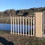 Unser Teich auf dem Grundstück.