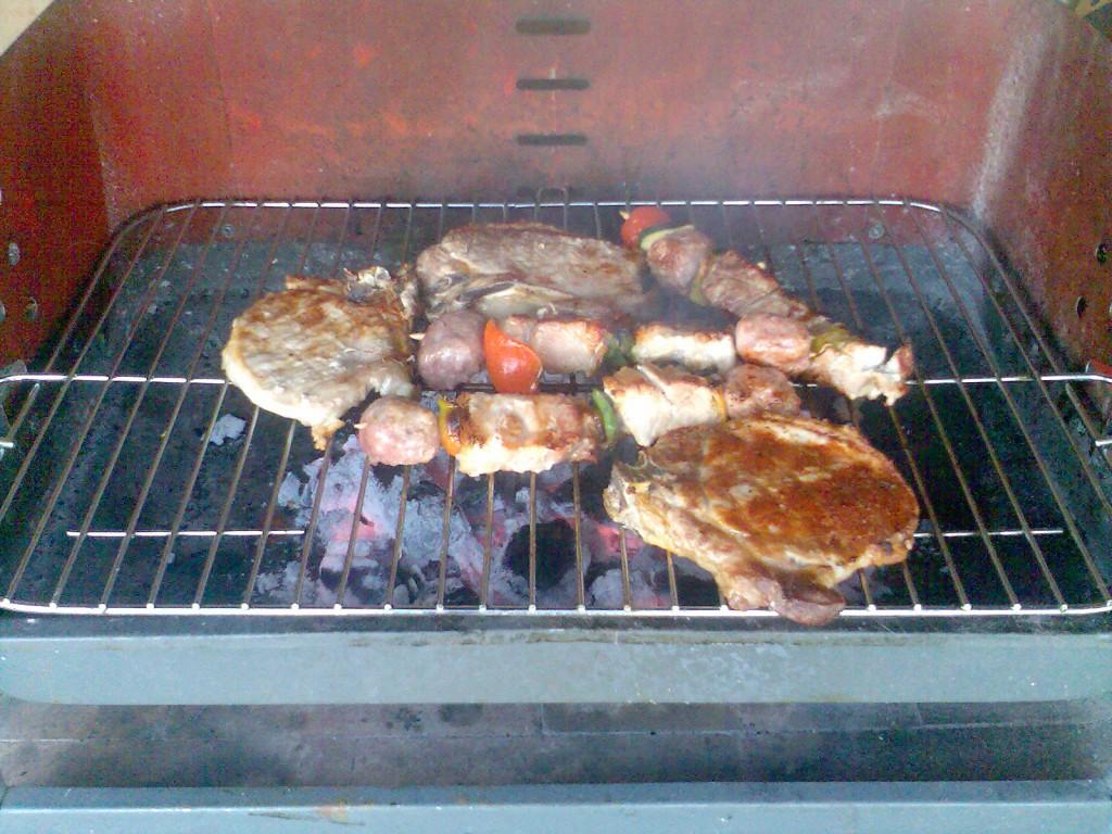 Heute gab es mal Fleisch.